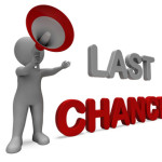 Last Chance Character Showing Warning Final Opportunity Or Act Now